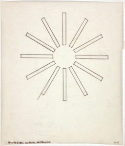 Ellsworth Kelly, Tracing of Stained Glass Window, North Wall, Chapel, 1987