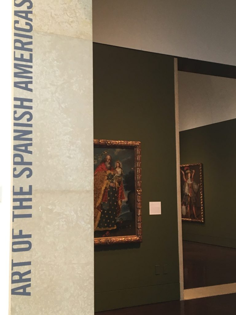 Entrance to the Art of the Spanish Americas Gallery at the Blanton Museum of Art