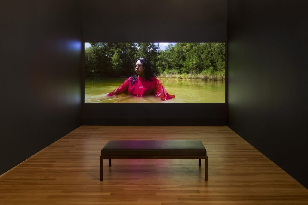 Exhibition view of Jeffrey Gibson: This Is the Day video gallery