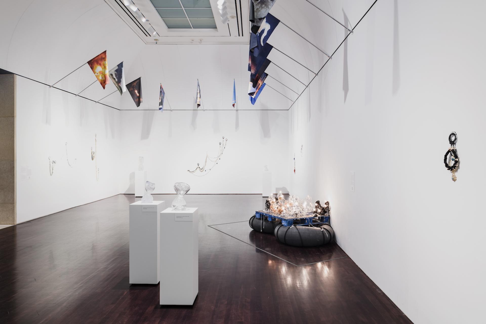 "Installation of ""Kambui Olujimi: Zulu Time"" at the Blanton Museum of Art, The University of Texas at Austin, January 26–July 14, 2019."