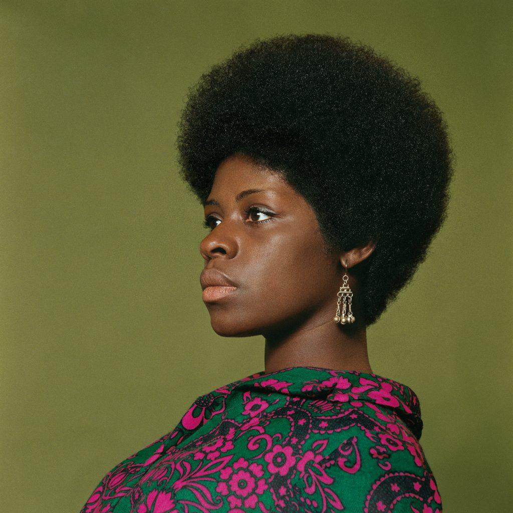 Kwame Brathwaite, Sikolo Brathwaite, African Jazz-Art Society & Studios (AJASS), Harlem, ca. 1968; from Kwame Brathwaite: Black Is Beautiful (Aperture, 2019)