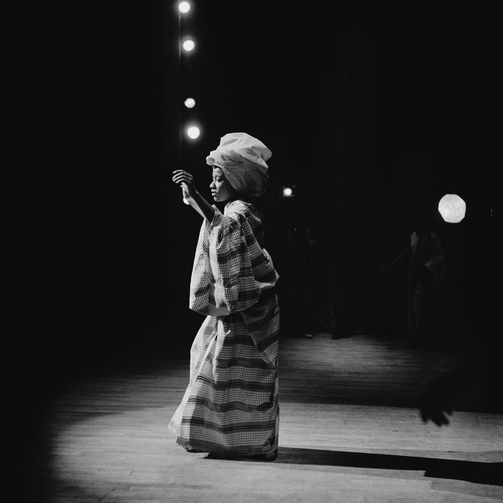 Kwame Brathwaite, Grandassa Model onstage, Apollo Theater, Harlem, ca. 1968; from Kwame Brathwaite: Black Is Beautiful (Aperture, 2019)