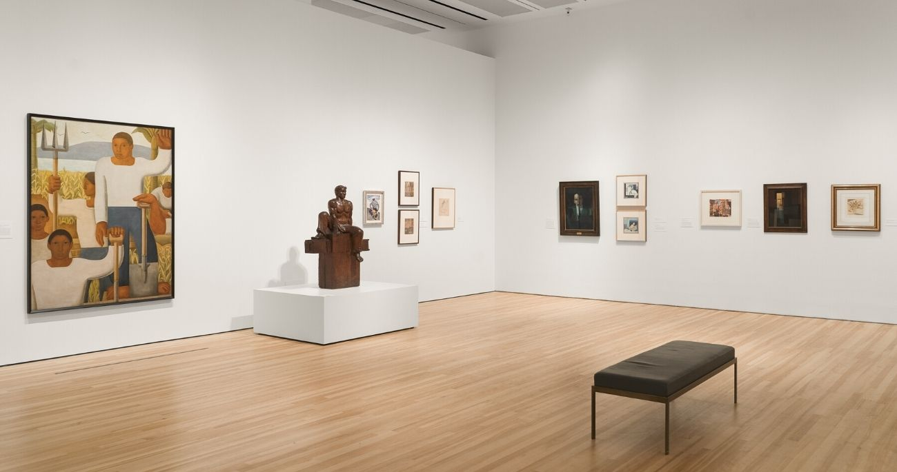 """Installation view of exhibition """"The Avant-Garde Networks of Amauta"""""""