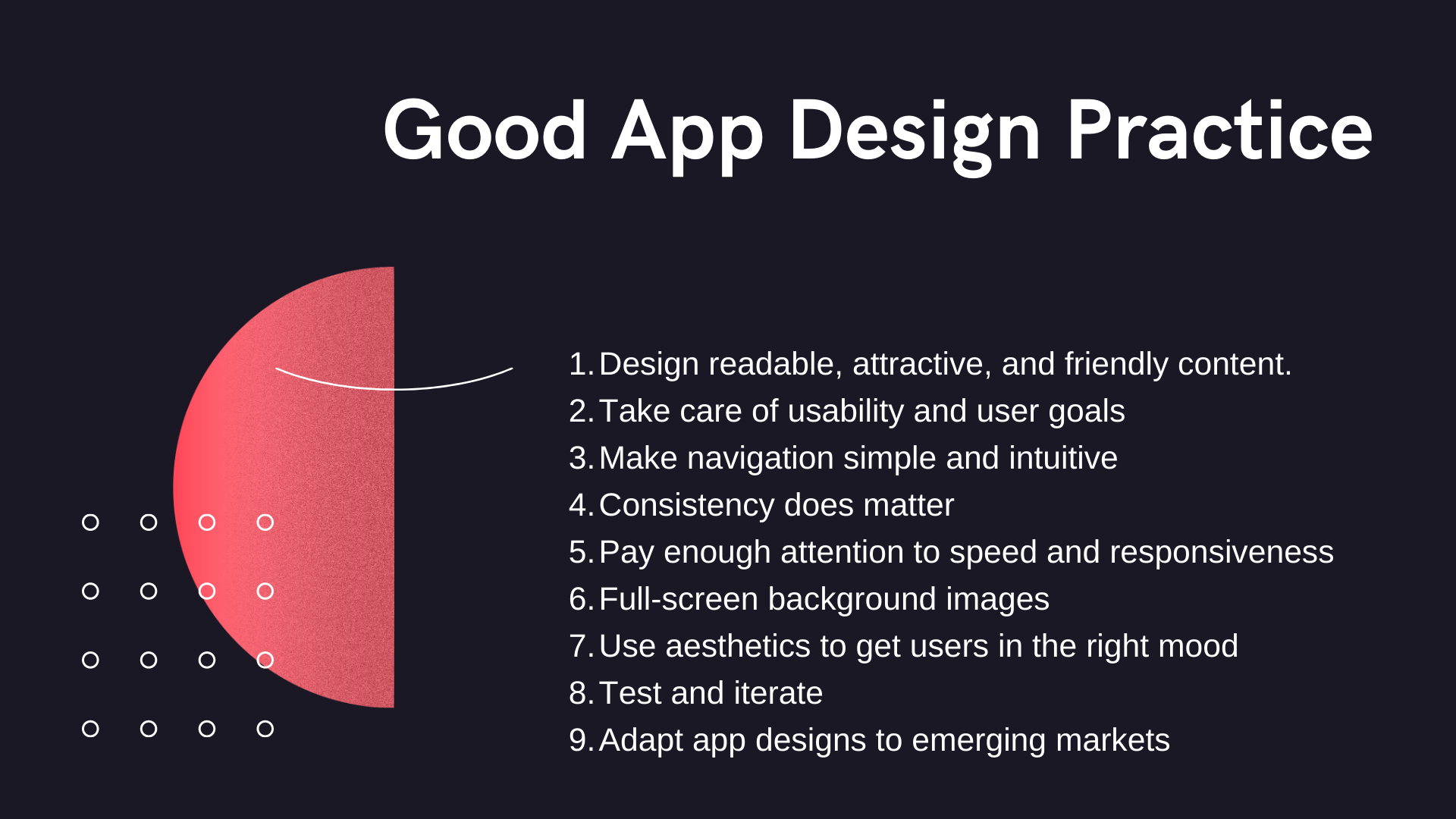 Which is a Good App Design Practice?