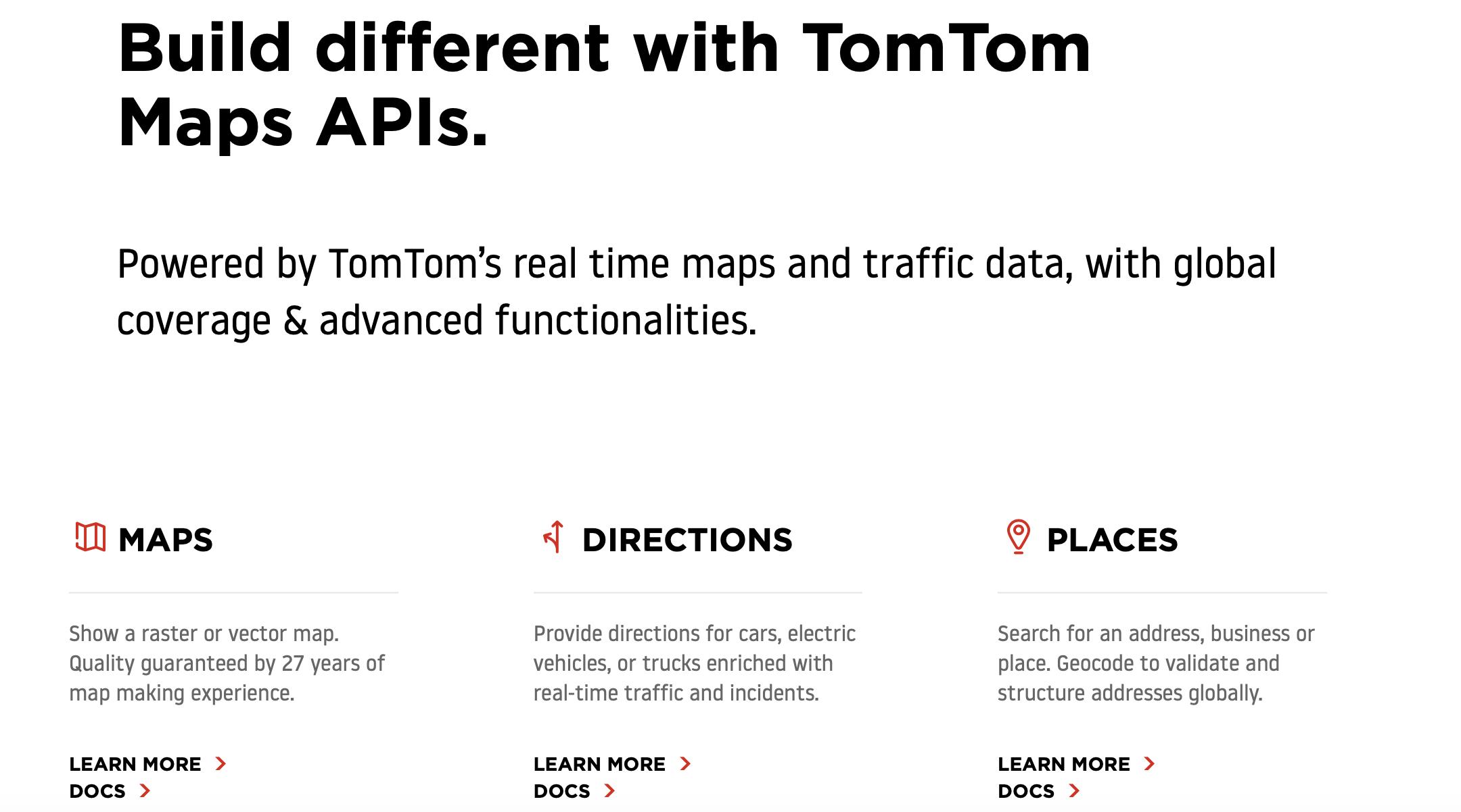 TomTom Maps API