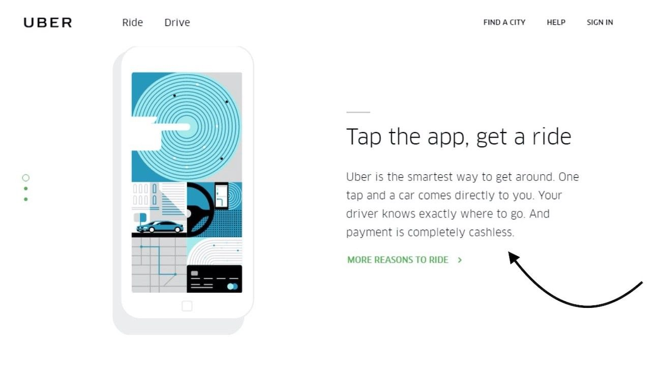 Here is an example of Uber's UVP.