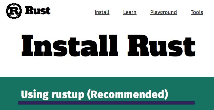 Install rust