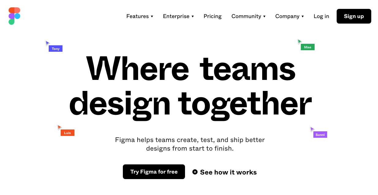Figma prototyping tool