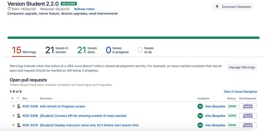 Release Management at Jira