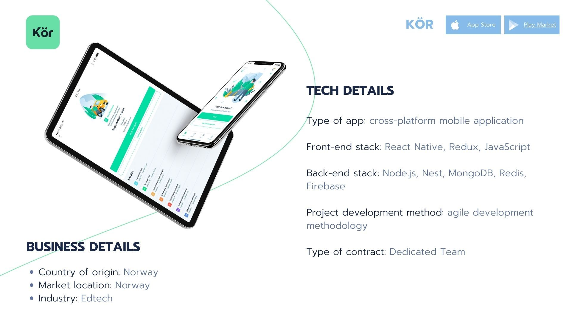 Dedicated team project example: KOR