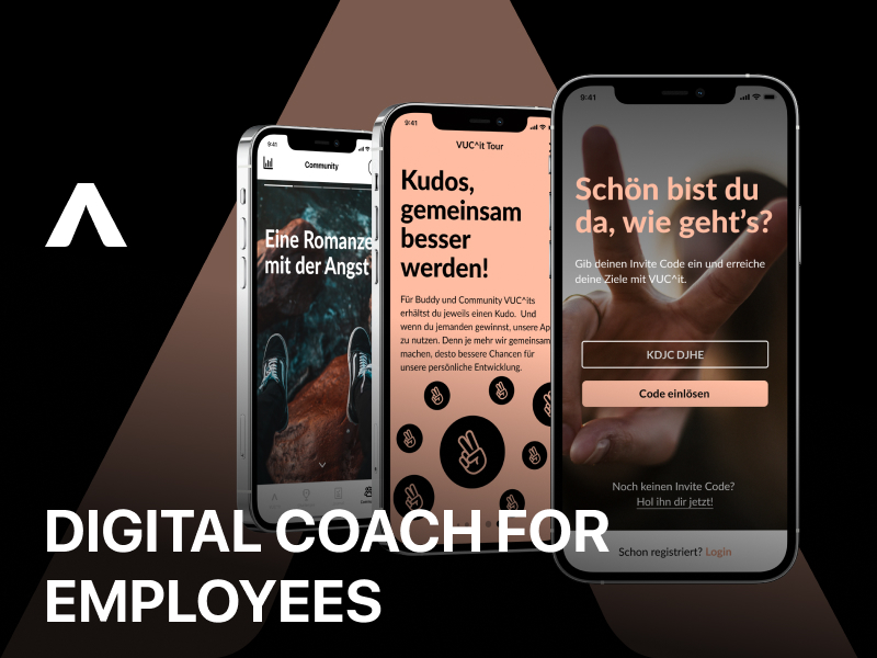 VUC^it digital coach for employees, education app design by Fulcrum.