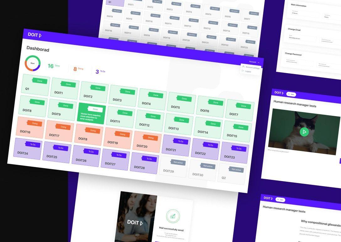 DOIT education app design by Fulcrum Rocks