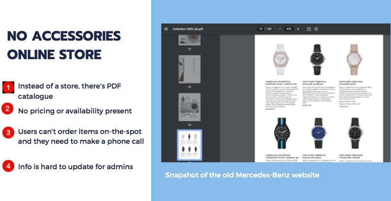 Old Mercedes-Benz car dealer website.