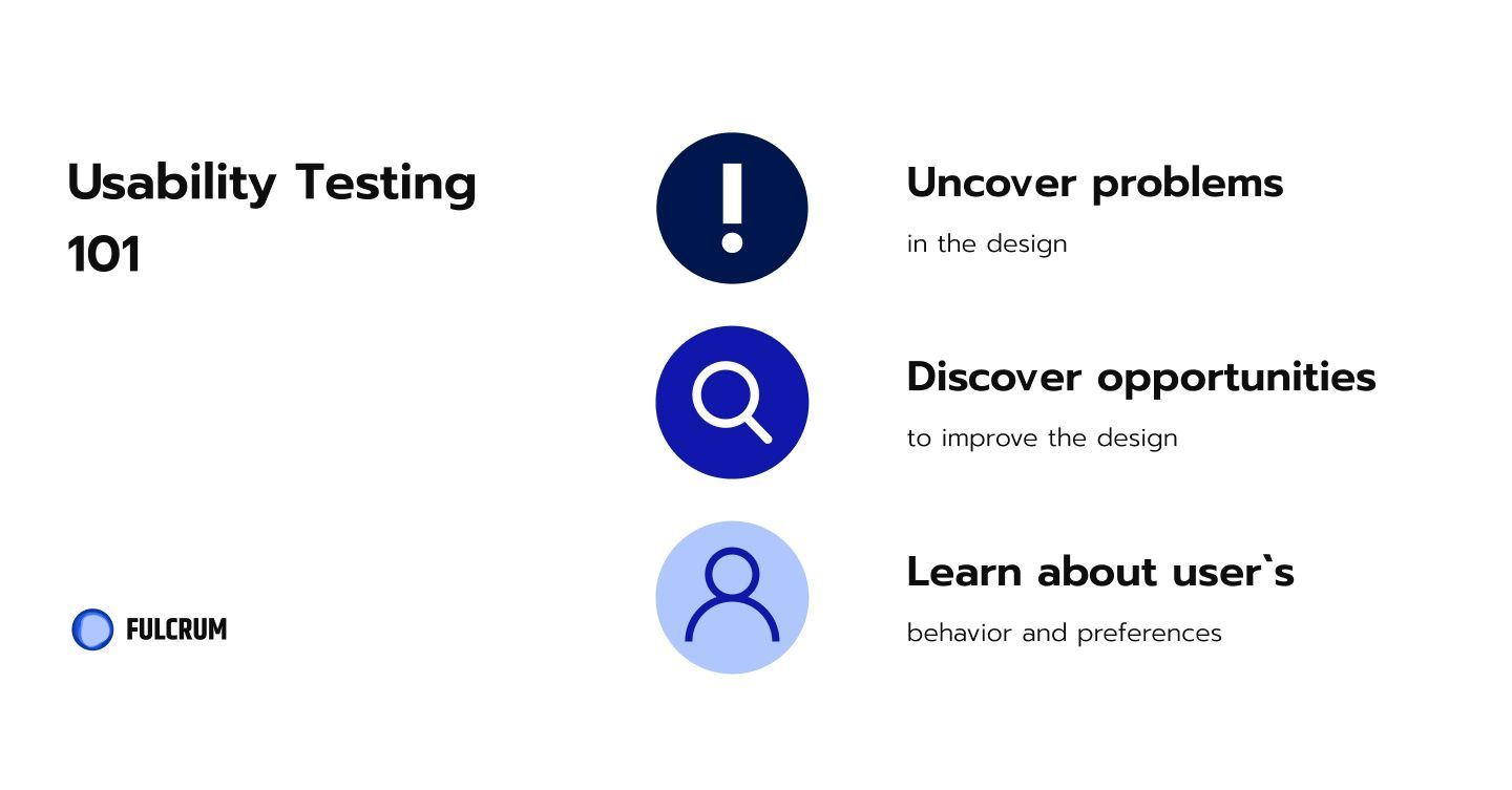 A usability test helps us to uncover unexpected issues, get feedback for the new concept, receive insights and ideas from the users.