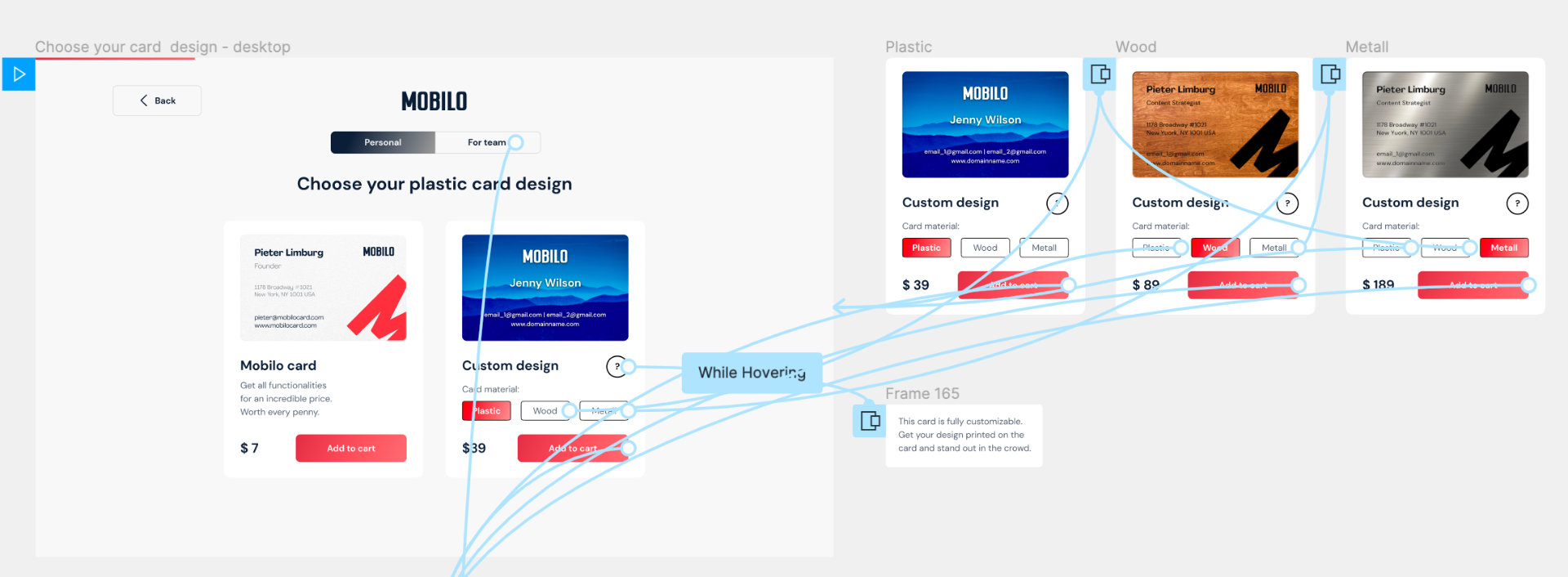 We create a black and white UX prototype based on the research insights and documentation created on the previous steps.