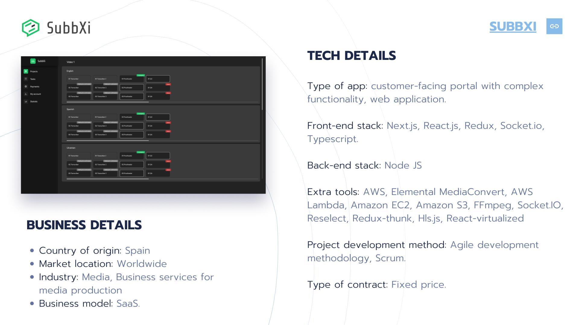 Project developed under Srcum methodology.
