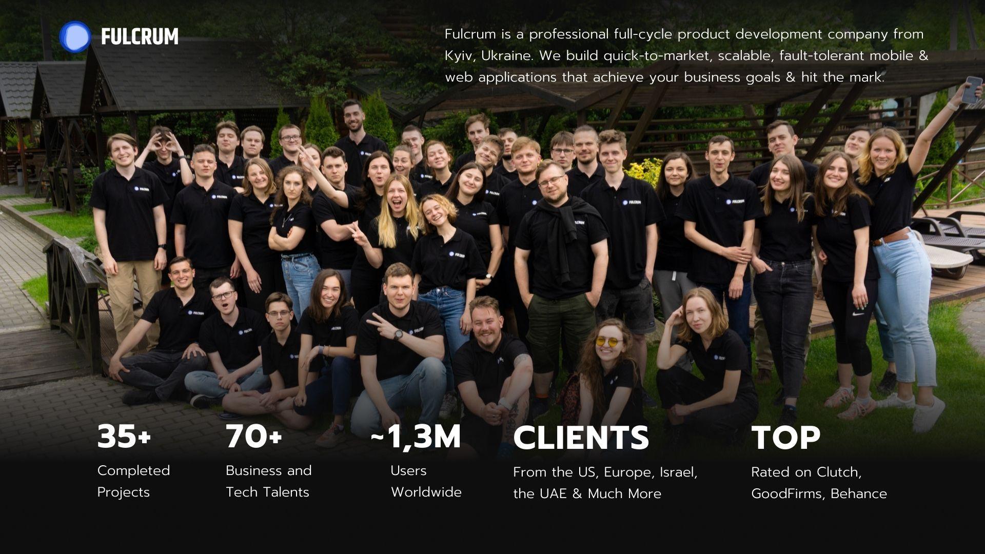Fulcrum software development team.