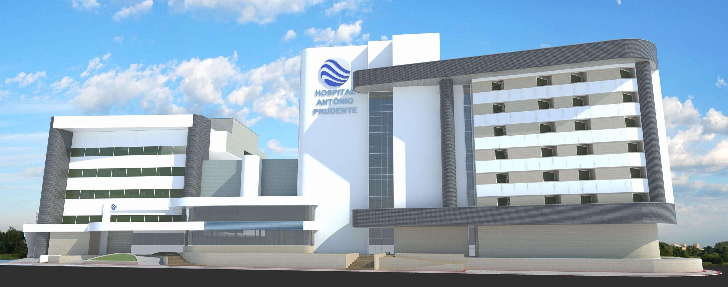 ilustração 3d do hospital Santo antonio prudente