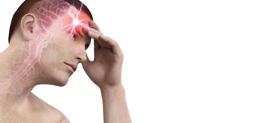 ilustração de dor de cabeça por conta de excesso