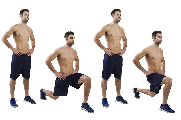 homem ensinando agachamento e suas posições
