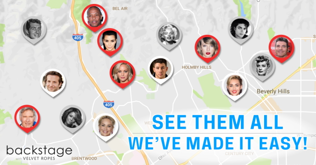 Beverly Hills Star Map Hollywood Stars Homes Map: Find Your Fav Celebs!