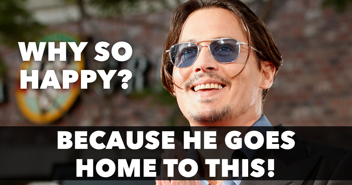Where does Johnny Depp live?