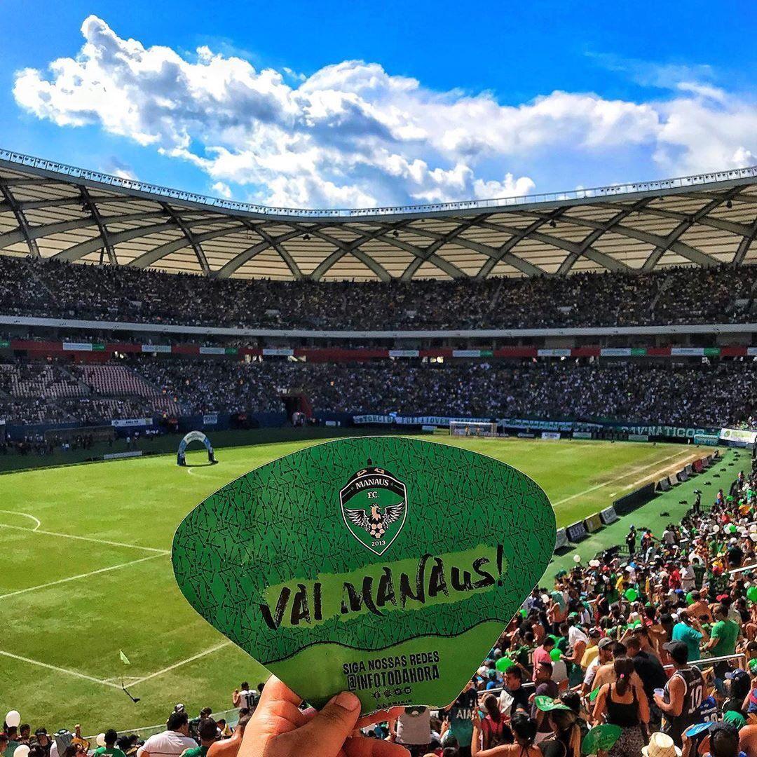 Arena da Amazônia lotada pela torcida do Manaus FC