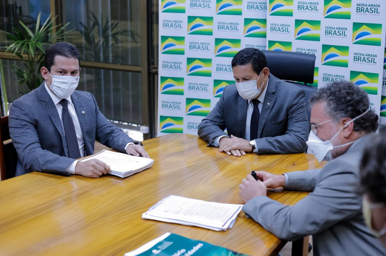 Marcelo Ramos, Hamilton Mourão e Virgílio Viana