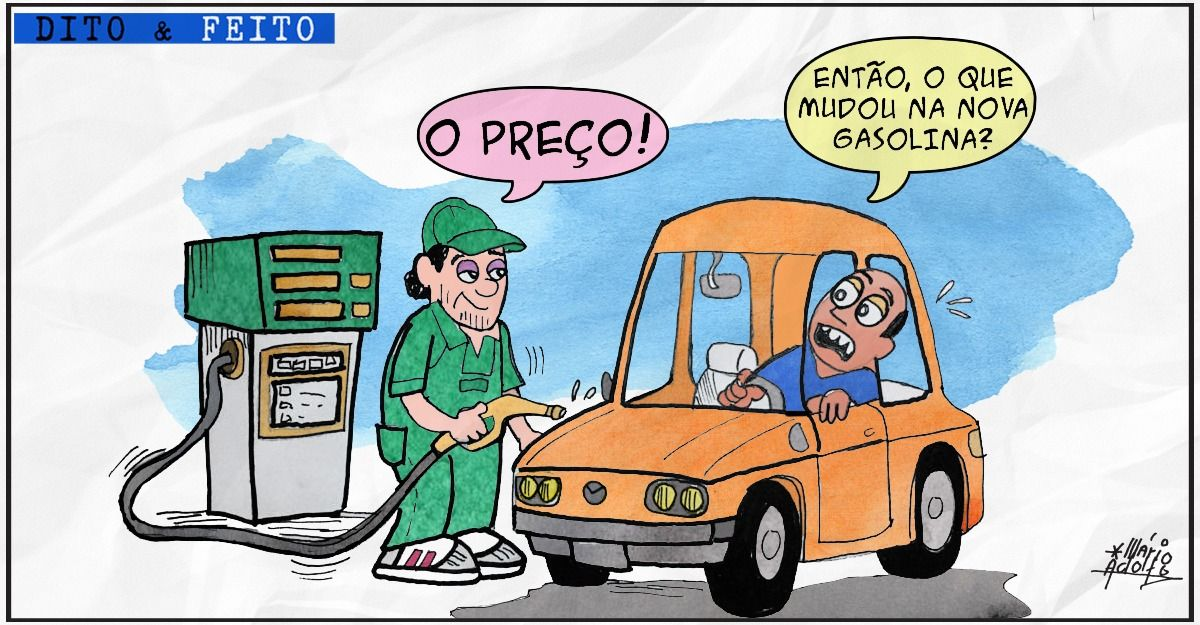 Charge preço da gasolina