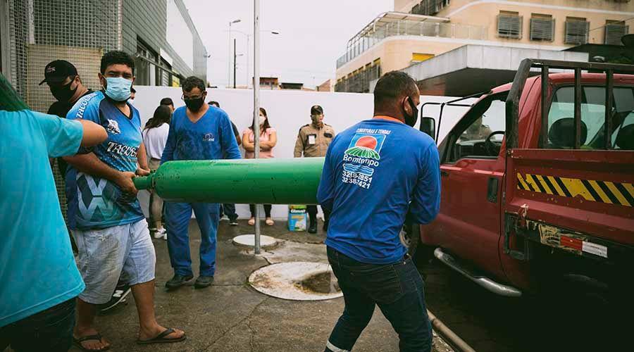 Cilindro de oxigênio em Manaus