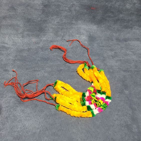 Spiritual Resham Garland Pavitra Har In Yellow Color Set Of 5 S