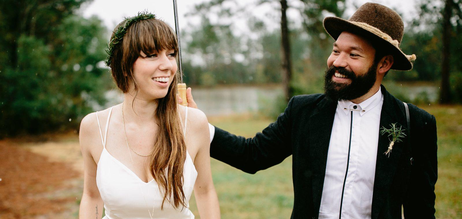 Rainy Louisiana Wedding