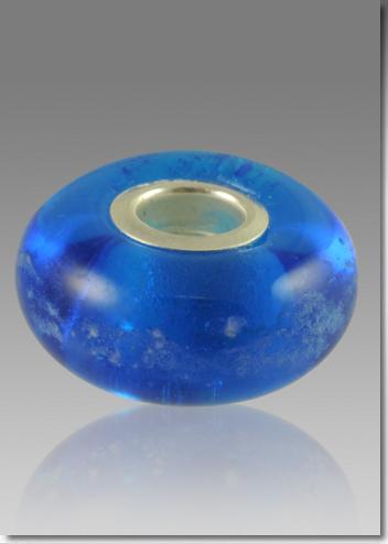 Blue Cremation Bead