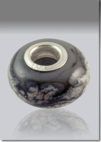 Gray Cremation Bead