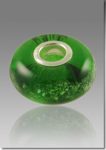 Green Cremation Bead