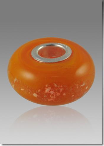 Orange Cremation Bead