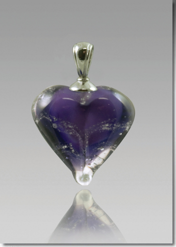 Purple Cremation Heart