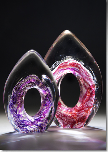 Purple and Red Cremation Flame