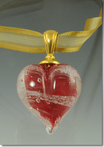 Red Cremation Heart