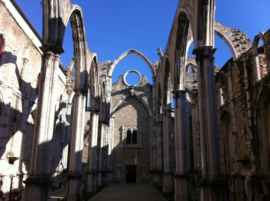 Carmo Convent, another important place to go in Lisbon