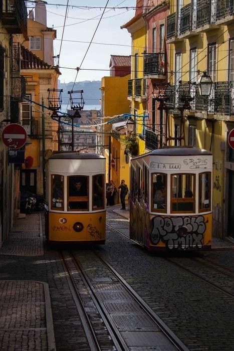 Subir al Ascensor da Bica, lo más típico que hacer en Lisboa