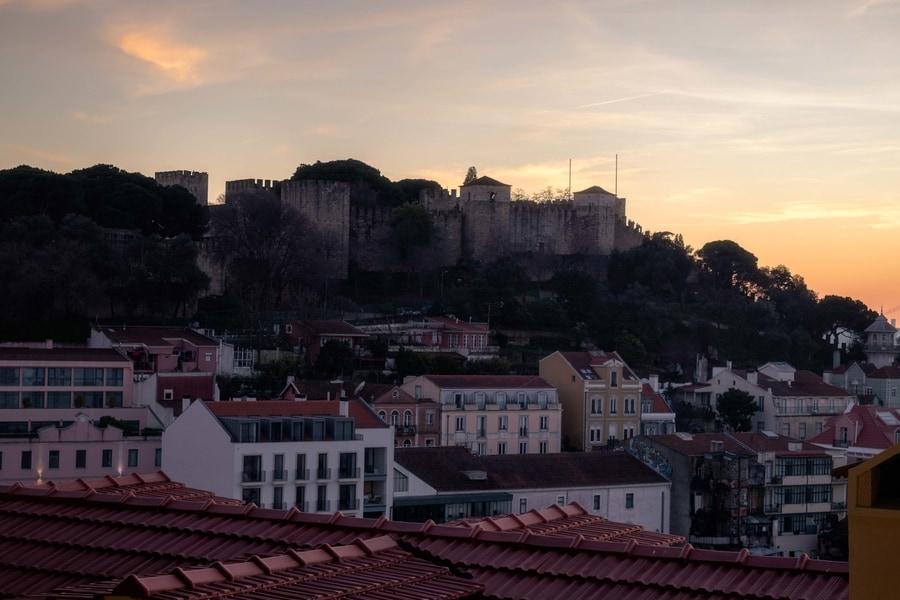 São Jorge Castle, a famous place to go in Lisbon, Portugal