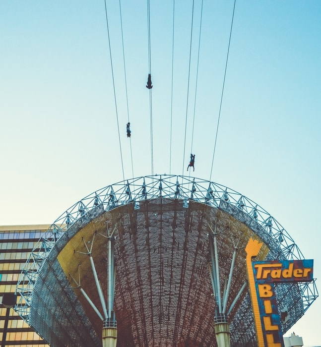 Hop in a zip line, something fun to do in Las Vegas