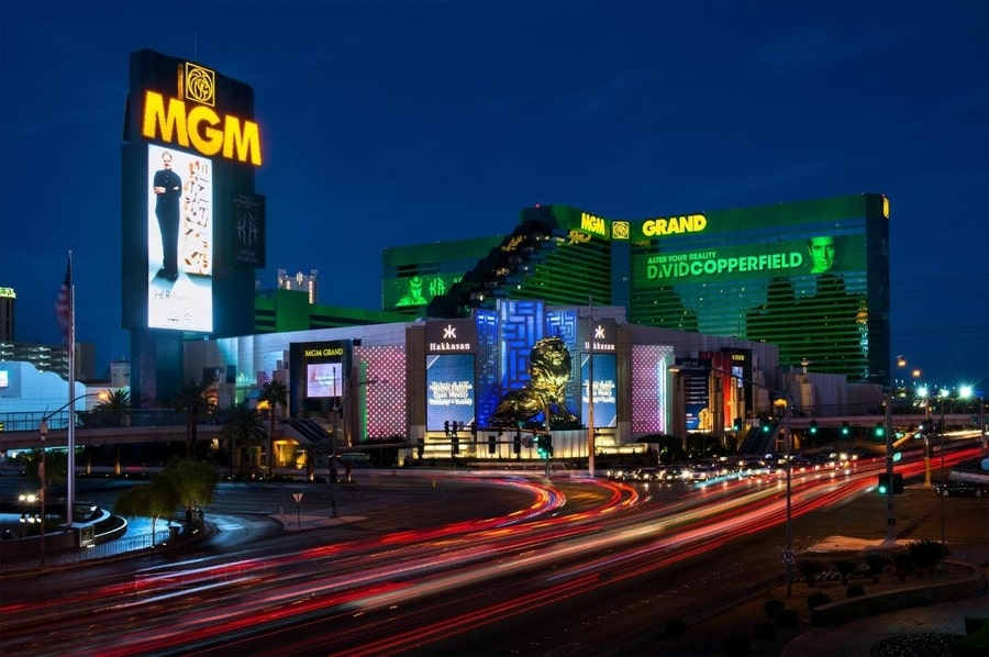 MGM Grand Las Vegas, one of the largest hotels in Las Vegas