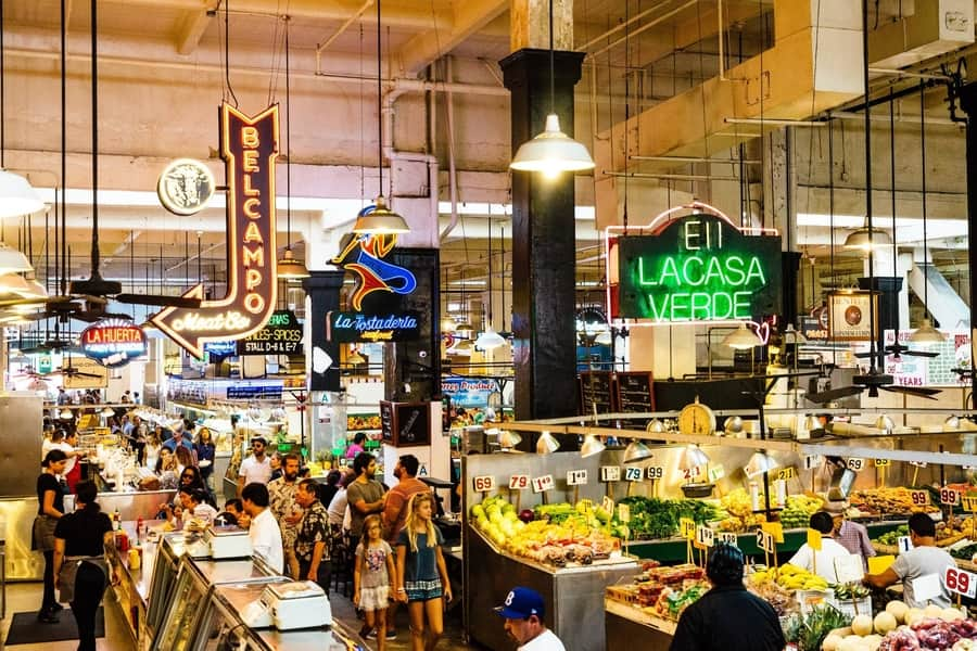 Grand Central Market, one of the oldest markets in California