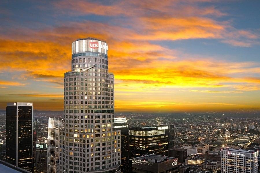 Edificio U.S. Bank Tower, one of the most spectacular buildings in LA