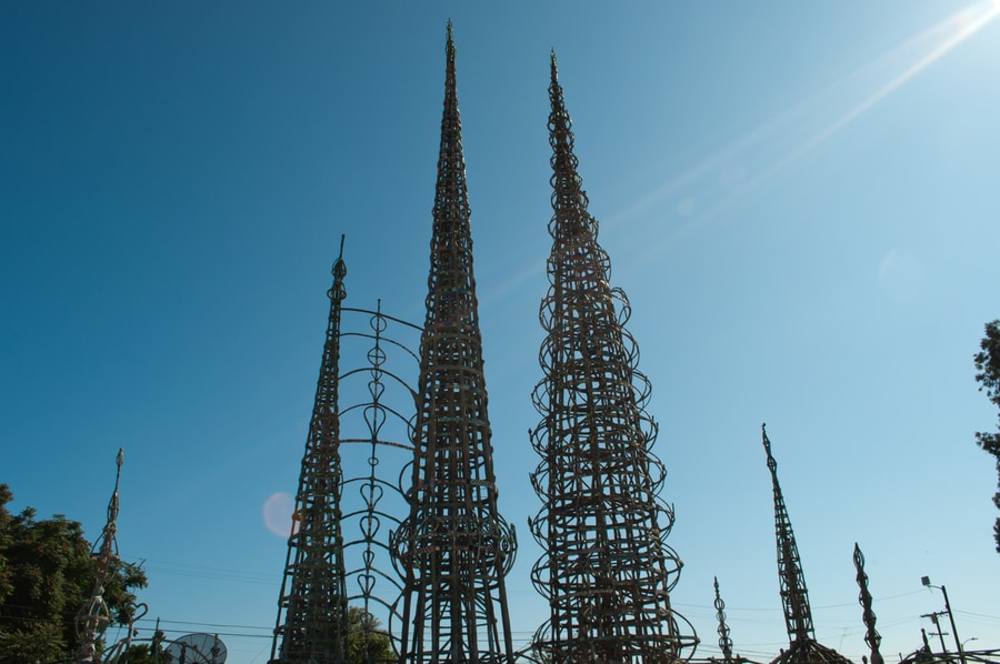 Watts Tower, an strange art work to see in LA