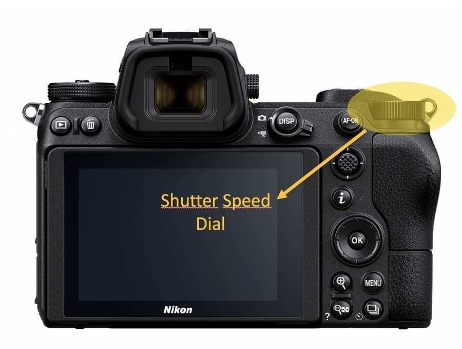 Shutter speed adjustment in camera