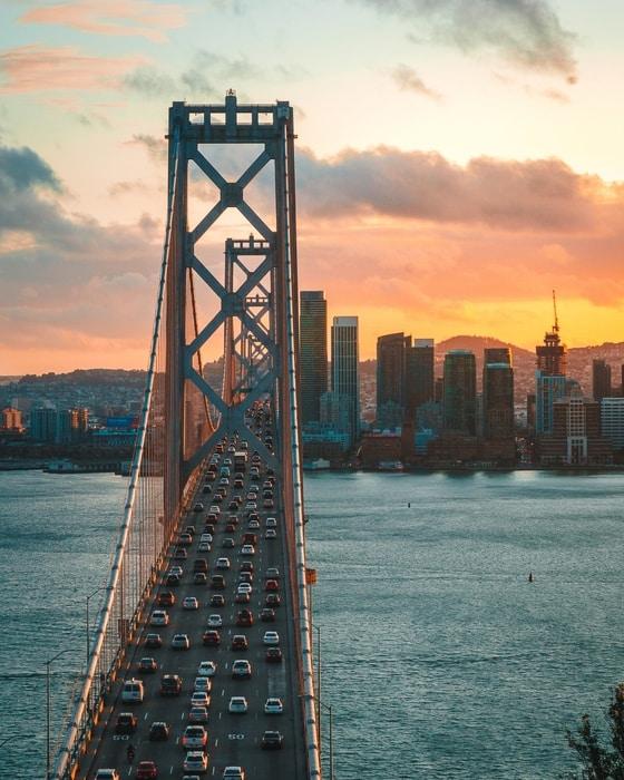San Francisco Bay Bridge, an important bridge to visit in SF