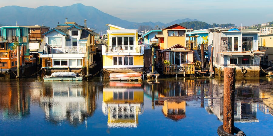 Sausalito, a beautiful and quiet place in San Francisco, California